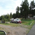 Obadiah's equipment at their new home in the Flathead Valley.