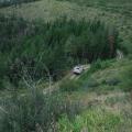 Obadiah's Skidgen rolling to the Seepay Fire near Dixon, MT.