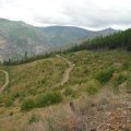 Obadiah's team rolling through the mountains to the Seepay Fire.