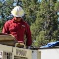 Equipment operator Levi Shaver.