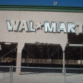 Insides of a Wal-Mart gutted by the flood.