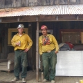 Obadiah's fire crew relaxing.