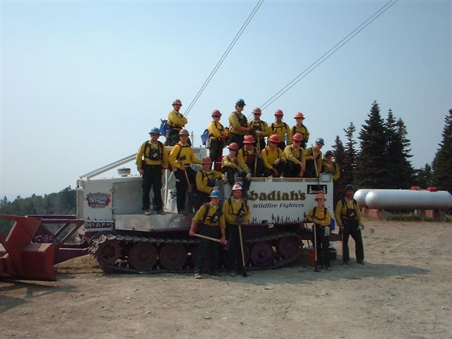 Obadiah's firecrew on the skidgen.