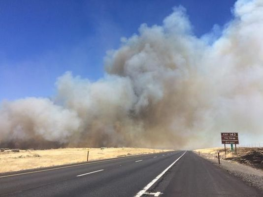 Fire near Interstate 90 in Washington - Obadiah's Wildfire Fighters