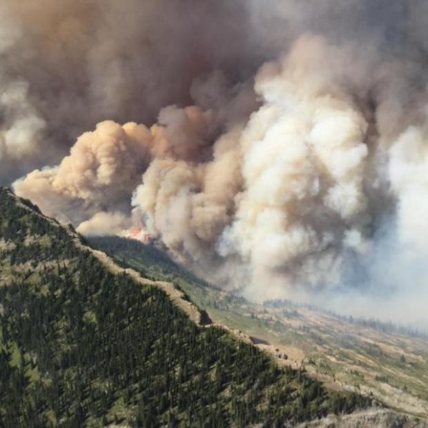 Thompson Fire in Glacier National Park - Obadiah's Wildfire Fighters