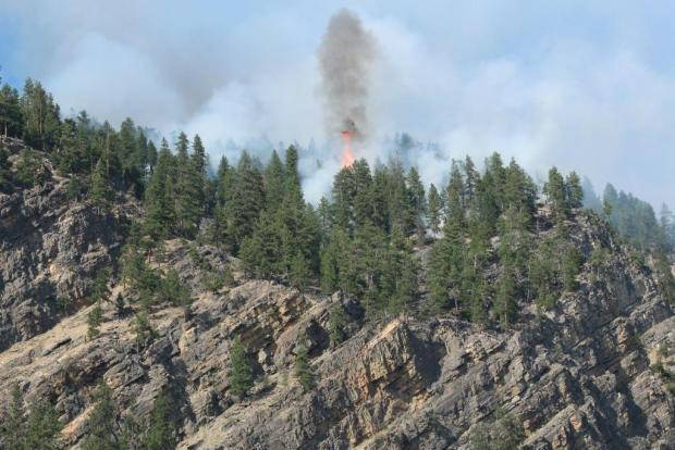 Montana Fires Flare Up Wildfire Fighters