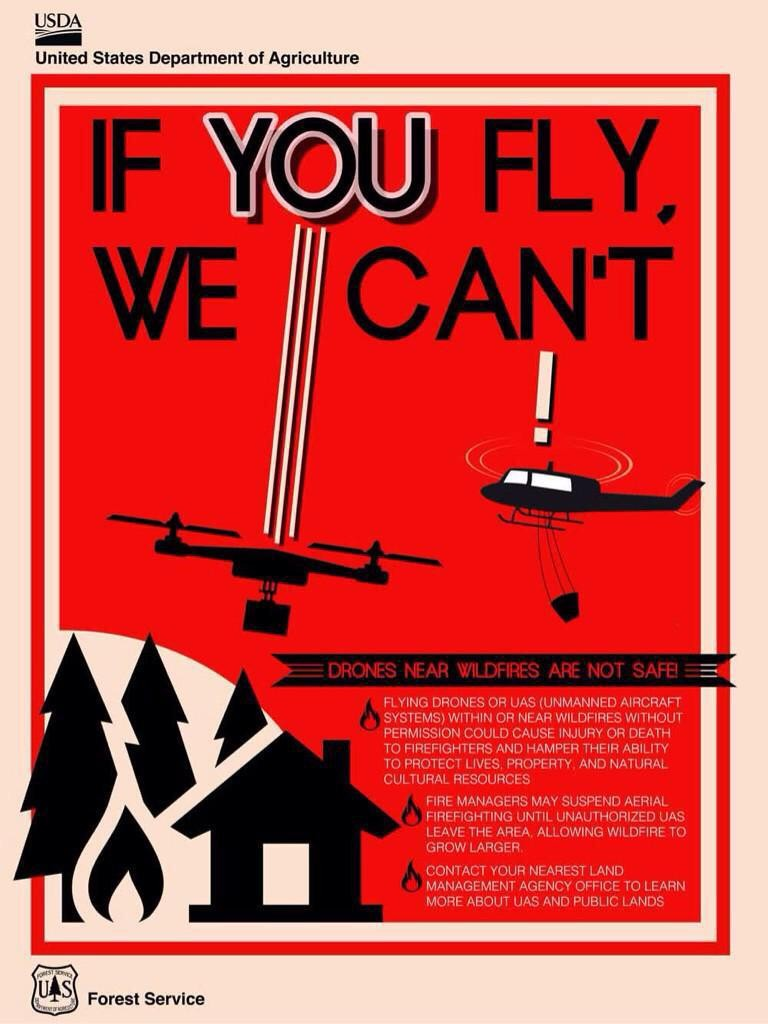 Forest Service Drones Flier - Obadiah's Wildfire Fighters